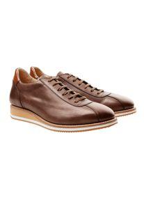 Cordwainer Edelsneaker, 41 - Nuss, aus Leder