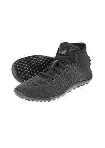 Leguano Barfussschuh Go, Knit-Sneaker, grau/schwarz, Gr. 38