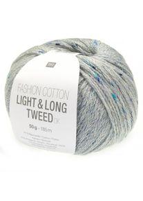 Fashion Cotton Light & Long Tweed DK Rico Design, Blau, aus Baumwolle