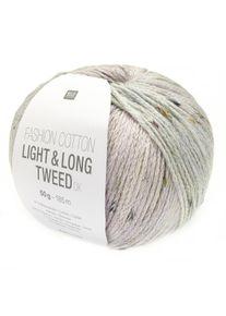 Fashion Cotton Light & Long Tweed DK Rico Design, Flieder-Mint, aus Baumwolle