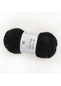 Fashion Cotton Métallisé Rico Design, Onyx, aus Baumwolle