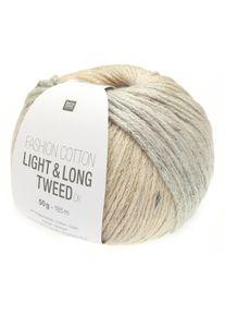 Fashion Cotton Light & Long Tweed DK Rico Design, Lachs-Hellblau, aus Baumwolle