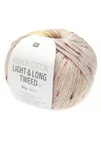Fashion Cotton Light & Long Tweed DK Rico Design, Vanille-Rosa, aus Baumwolle