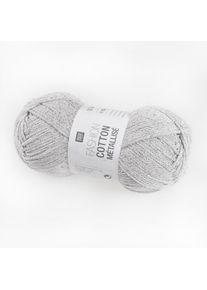 Fashion Cotton Métallisé Rico Design, Silber, aus Baumwolle