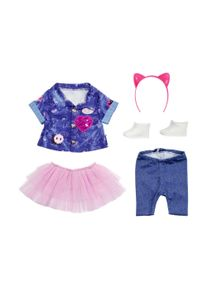 Zapf Creation Puppen Outfit Deluxe Jeans Kleid Set 43cm
